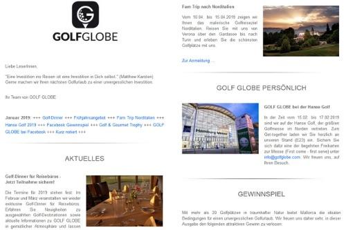 Newsletter für Reisebüros