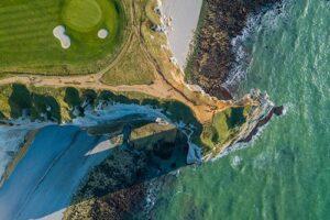 Golfplatz, Meer, Strand, Grün