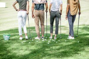 Golfplatz, Golfschläger, Gruppe, Flight, Golfbälle
